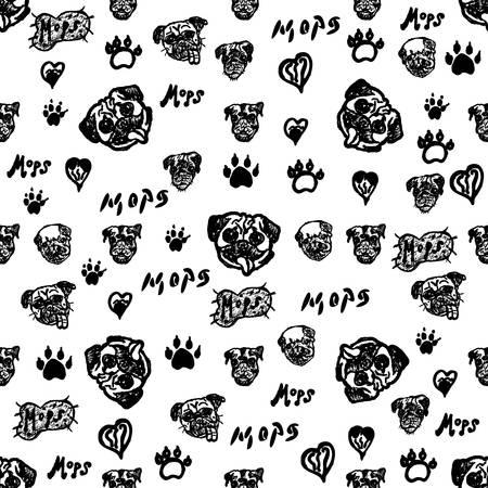 Doodle motif de chien de chien Banque d'images - 87043997