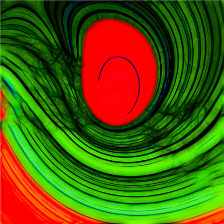 Abstract Green Background with Red Spot  -  Illustration Stock Photo