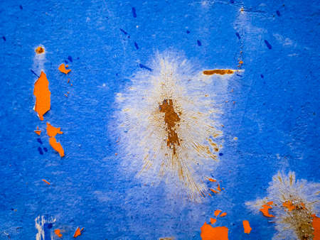Blue Rust Metal Background Image