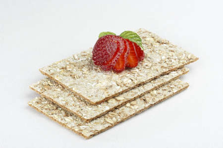 Crackers and strawberry Stock Photo - 6834109
