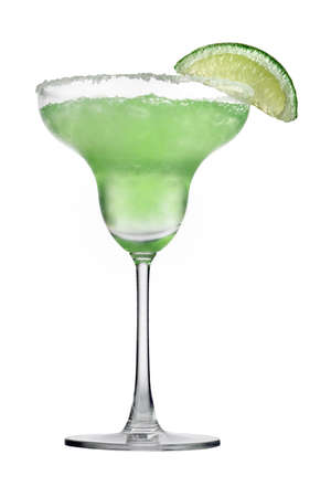 alcohol series: Isolated Margaritas Stock Photo