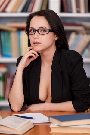 Young lady teacher with naked body 4