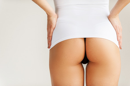yeah: Oh yeah! Cropped studio shot of a womans buttocks Stock Photo