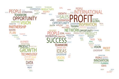 mapa de europa: Mapa del negocio global. Primer plano de imagen de mapa del mundo en el fondo blanco