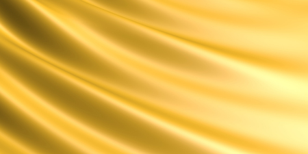 Wavy Golden fabric background. 免版税图像