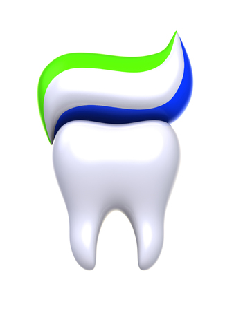 fluoride: Protection and health of teeth. Stock Photo