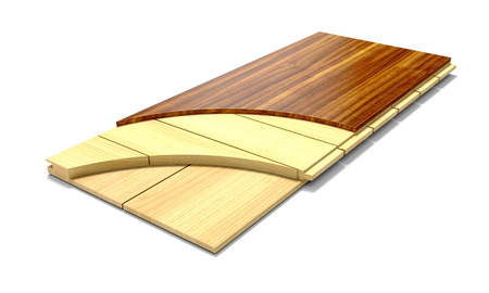 hardwood flooring: Hardwood flooring in section, on a white background.