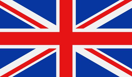 United Kingdom flag. Vector illustration.