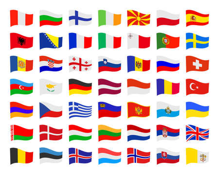 european flags: European flags - vector illustration Illustration