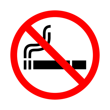 pernicious habit: No smoking sign . Vector illustration.