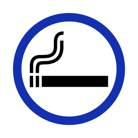 smoldering: Smoking area sign on white background. Vector illustration.