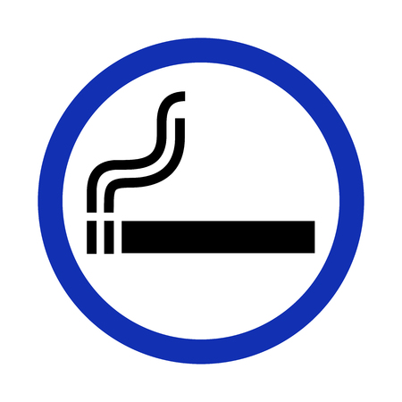 Smoking area sign on white background. Vector illustration.
