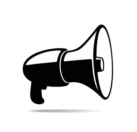 Illustration of megaphone isolated on white