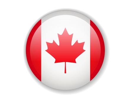 Canada flag. Round bright Icon. Vector Illustration Vektorgrafik