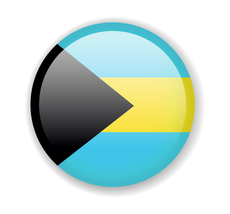 Bahamas flag. Round bright Icon. Vector Illustration