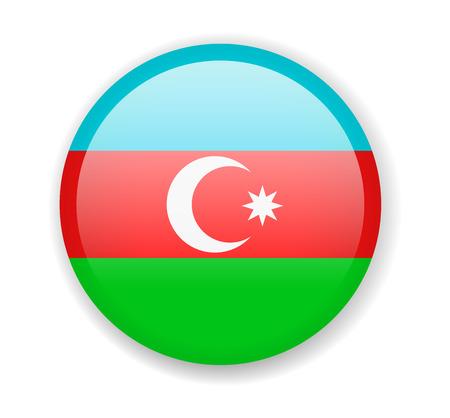 Azerbaijan flag. Round bright Icon. Vector Illustration Vector Illustratie