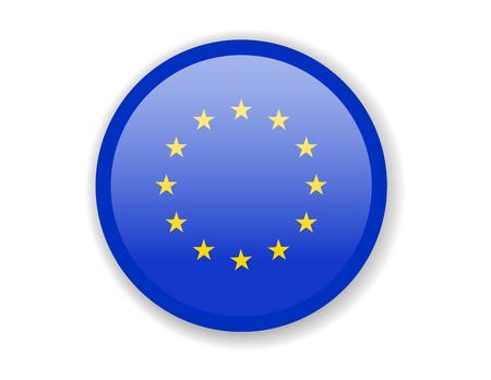European Union flag. Round bright Icon. Vector Illustration Vektoros illusztráció
