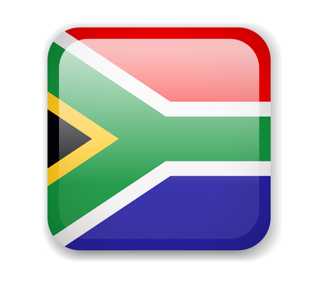 South Africa Flag. Bright Square Icon. Vector Illustration Imagens - 115505701