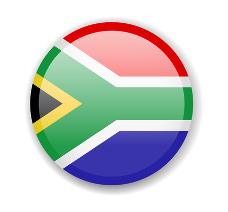 South Africa flag. Round bright Icon. Vector Illustration