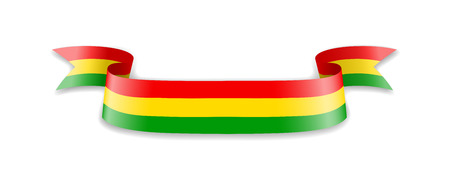 Bolivia flag in the form of wave ribbon. Vector illustration. Imagens - 116844899