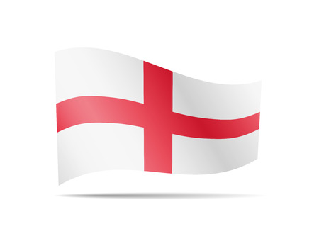 Waving England flag in the wind. Flag on white background vector illustration Imagens - 124886233