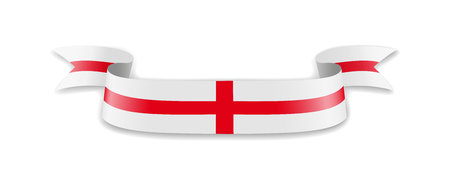 England flag in the form of wave ribbon. Vector illustration.