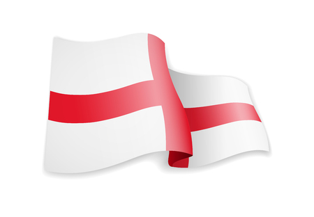 England flag in the wind. Flag on white background vector illustration Imagens - 124886239