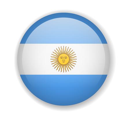 Argentina flag round bright icon vector Illustration