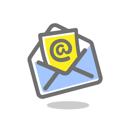 Email envelope icon. Bright, colored vector illustration on a white background.