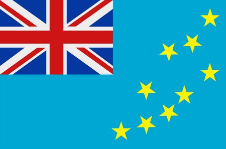 Flag of Tuvalu. Sovereign state flag of Tuvalu vector illustration