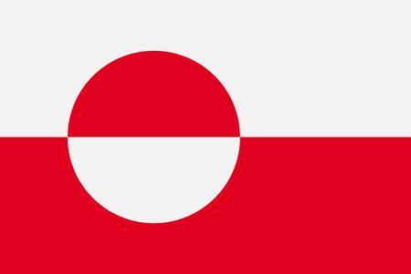 Flag of Greenland. Sovereign state flag of Greenland vector illustration Ilustração