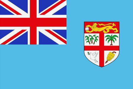 Flag of Fiji. Sovereign state flag of Fiji vector illustration