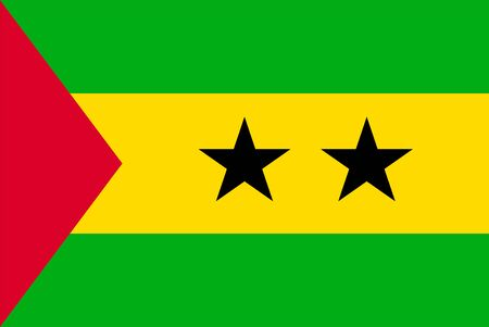 Flag of Sao Tome and Principe. Sovereign state flag of Sao Tome and Principe vector illustration