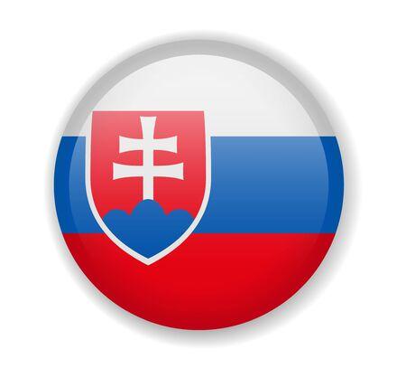 Slovakia flag round bright icon vector Illustration