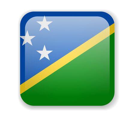 Solomon Islands Flag. Square bright Icon. Vector Illustration