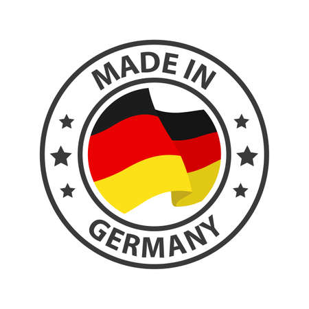 Made in Germany icon. Stamp made in with country flag