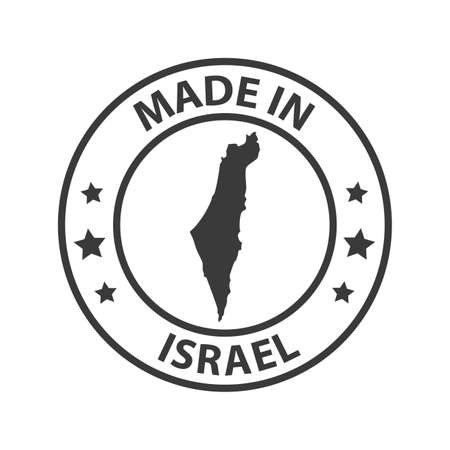 Made in Israel icon. Stamp sticker. Vector illustration
