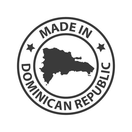 Made in Dominican Republic icon. Vector illustration Vektorgrafik