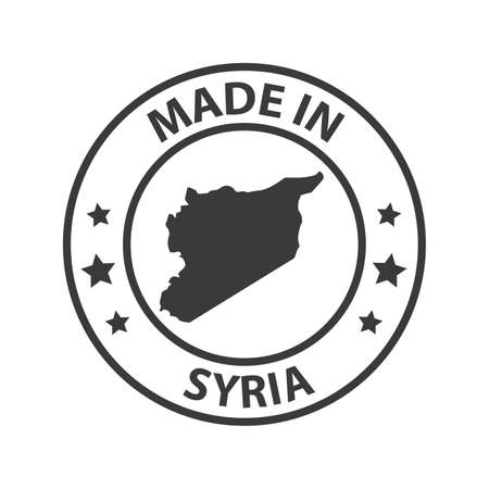 Made in Syria icon. Stamp sticker. Vector illustration