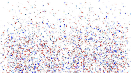 Abstract colorful explosion of confetti isolated on a white background. 3d render