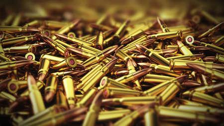 Heap of very old empty bullet shells. 3d render Stock fotó