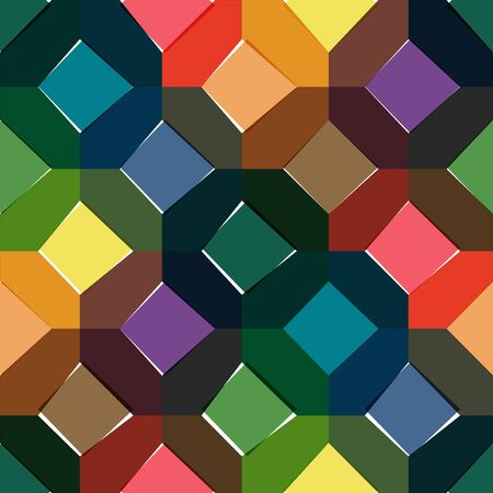 octagon: Octagon seamless colorful pattern