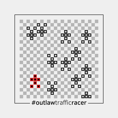 outlaw: Outlaw traffic racer Illustration