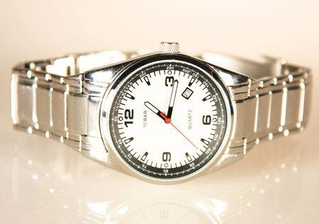 Steel Watch Stock Photo
