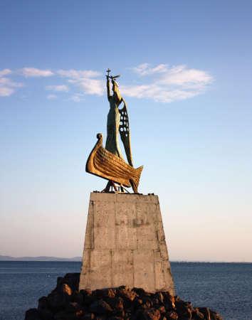 Bulgaria Balchik Coast Sculture Stock Photo