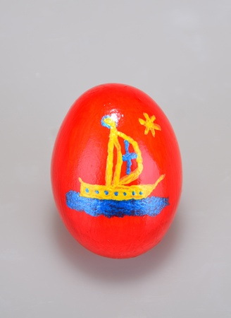 Painted easter egg was shot alone  Egg were painted by the photographer