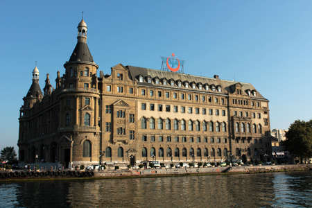 Istanbul�s biggest train station which is calling as Haydarpasa  Ancient building with old German style