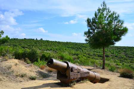 Old canon that was used in Gallipoli War in 1915 by Turkish Army.
