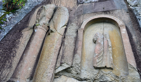 Ancient Roman monument, which is located in Amasra – Turkey, is a unique structure. The relief symbolizes the power of the Roman Empire with eagle figure.