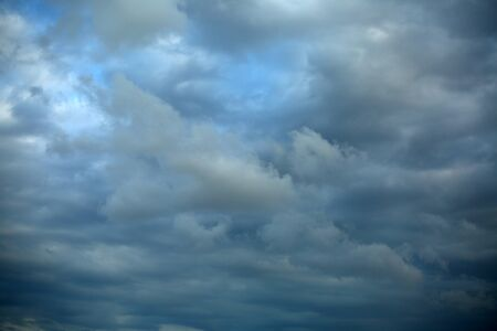 Sky was covered by different tones of blue and white.